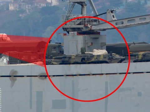 Russia sends 'reinforcement' of warships loaded with tanks to Syria