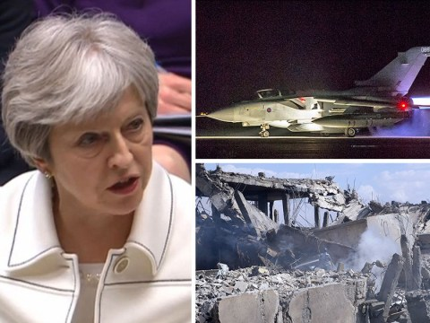 Theresa May defends bombing Syria as she faces angry MPs in parliament