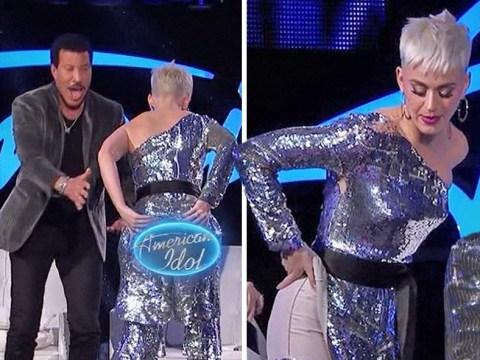 Katy Perry suffers unfortunate wardrobe malfunction on American Idol: 'Tape my butt!'