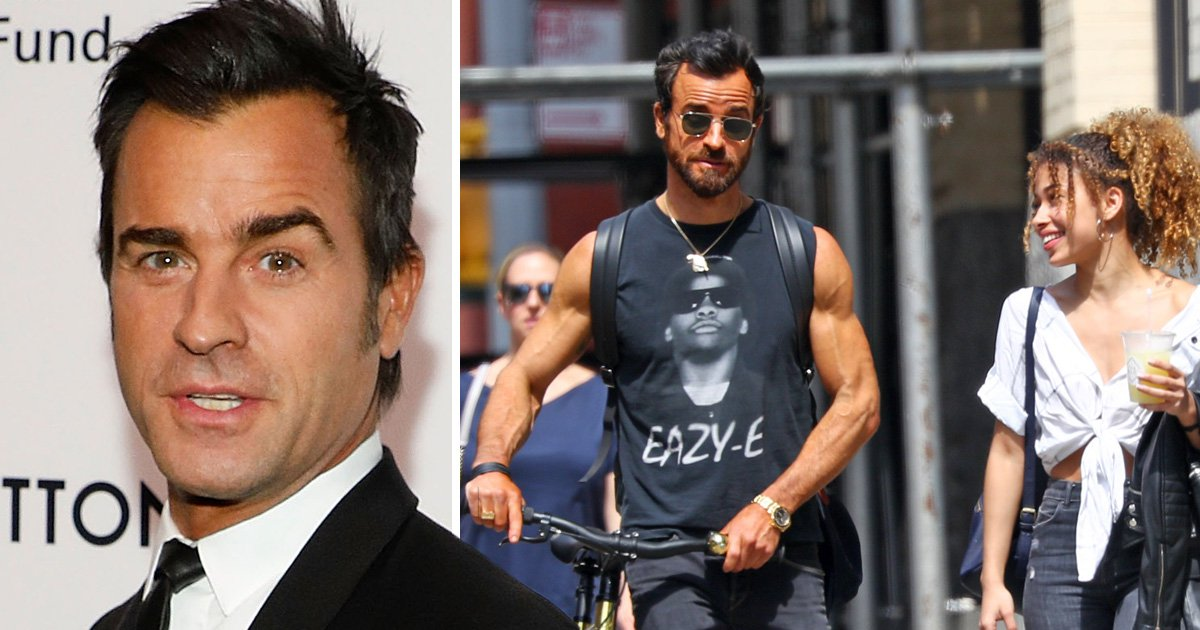 Justin Theroux looks far from glum about Jennifer Aniston split as he shows off guns on coffee date
