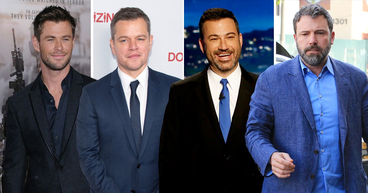 Ben Affleck and Chris Hemsworth battling over friendships with Matt Damon and Jimmy Kimmel is very awkward