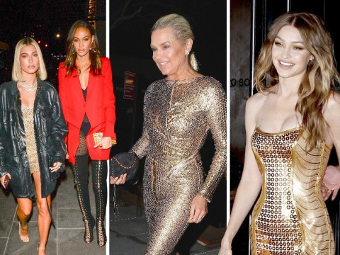 Gigi Hadid is the golden girl at 23rd birthday party as she gets over Zayn split