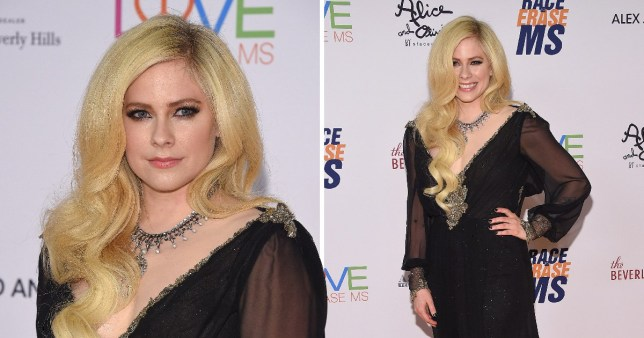 Avril Lavigne returns to red carpet after Lyme disease