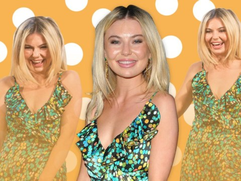 Toff gets the giggles as she parties across London – and on a school night
