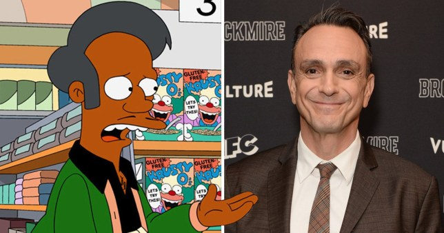 Hank Azaria and the character Apu from The Simpsons
