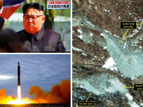 Mountain collapses above North Korea's main nuclear testing site