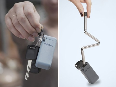 This is the world's first collapsible, reusable straw – and it fits on your keyring