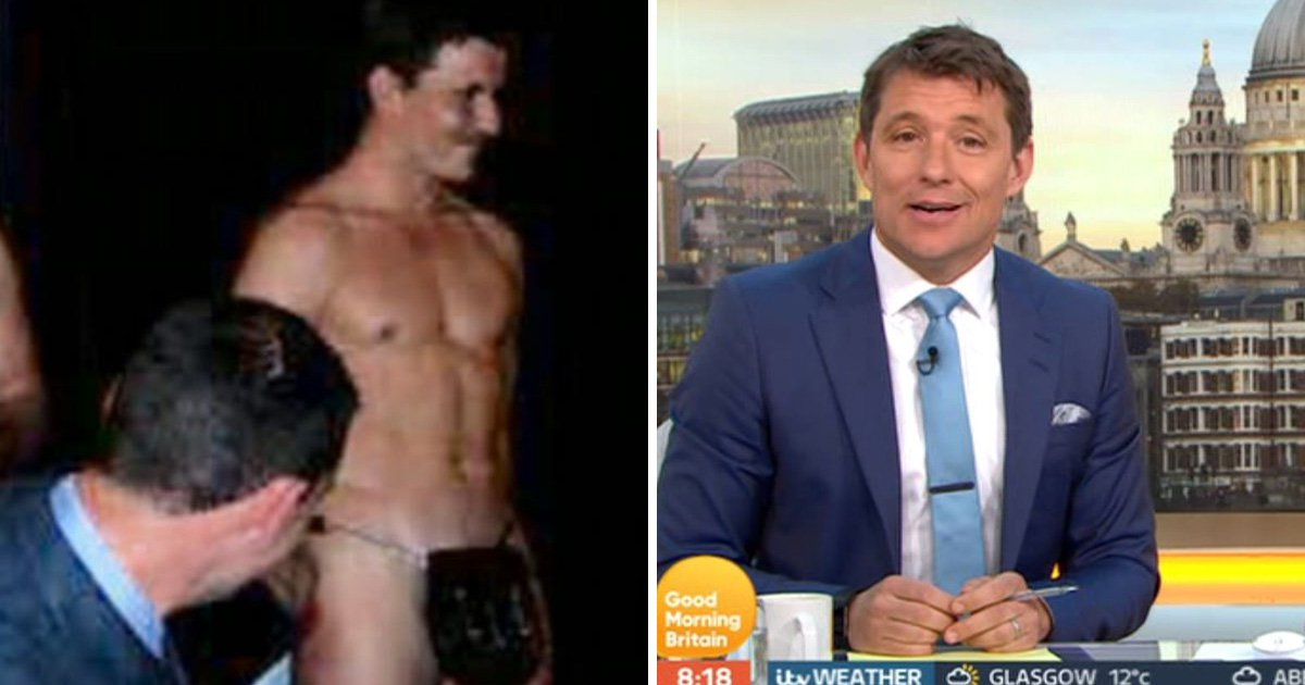 Good Morning Britain viewers get an eyeful of Ben Shephard's 'party bag' in naked throwback