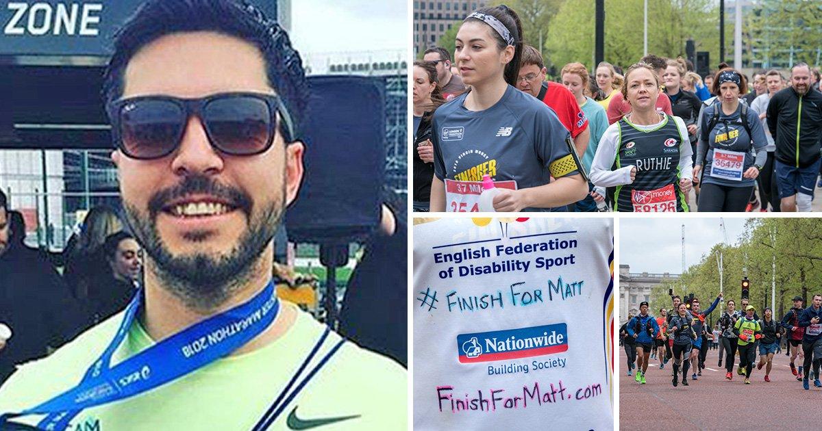 Hundreds of runners turn up to #FinishForMatt, the runner who died at the marathon