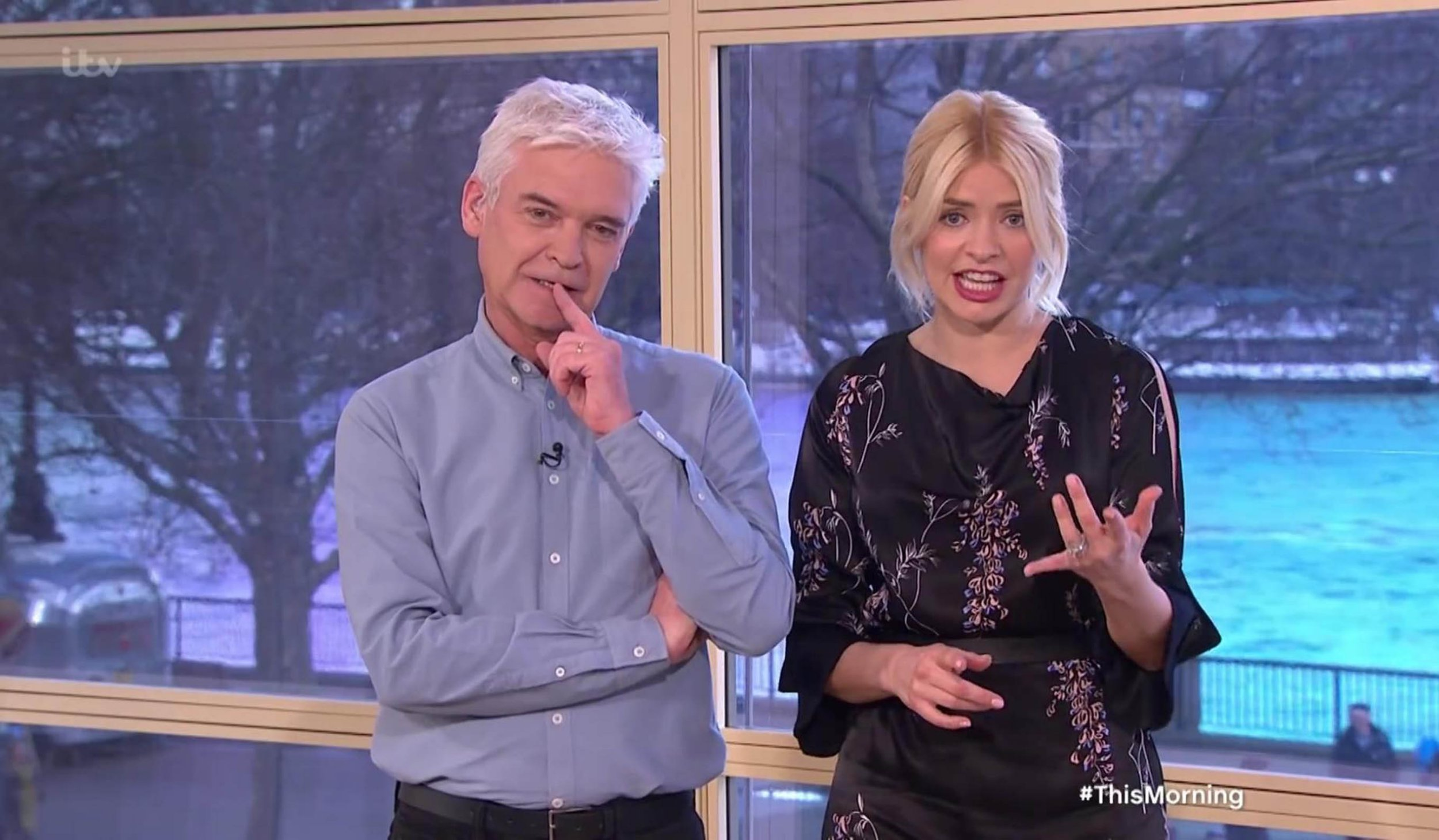 """29-3-2018 Holly and Phillip Look Back at Their Very First This Morning Appearances During a Segment on TV Show """"This Morning"""" Pictured: Holly Willoughby & Phillip Schofield PLANET PHOTOS www.planetphotos.co.uk info@planetphotos.co.uk +44 (0)20 8883 1438"""