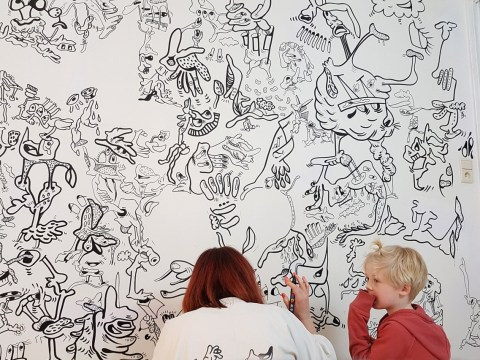 Artist's house is a giant doodle pad