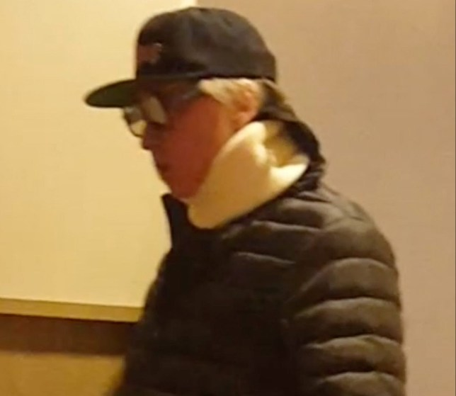 "Los Angeles, CA - *EXCLUSIVE* - Actor Val Kilmer is seen at the movie theater this evening to watch ""Pacific Rim Rising"" and tries to go incognito with dark shades and trucker worn low and a neck brace. Val wore a big puffy parka jacket with sweats carrying a tote and appeared to be a little lost trying to find his theater to finish the movie. Upon walking out after the movie, Val opted to try to blend into the crowd to hopefully go unnoticed. The ""Top Gun'' star has been battling throat cancer for two years and has been spotted wearing what appeared to be a tracheostomy tube in 2015. *SHOT ON 03/28/2018* Pictured: Val Kilmer BACKGRID USA 3 APRIL 2018 BYLINE MUST READ: Sandy / BACKGRID USA: +1 310 798 9111 / usasales@backgrid.com UK: +44 208 344 2007 / uksales@backgrid.com *UK Clients - Pictures Containing Children Please Pixelate Face Prior To Publication*"