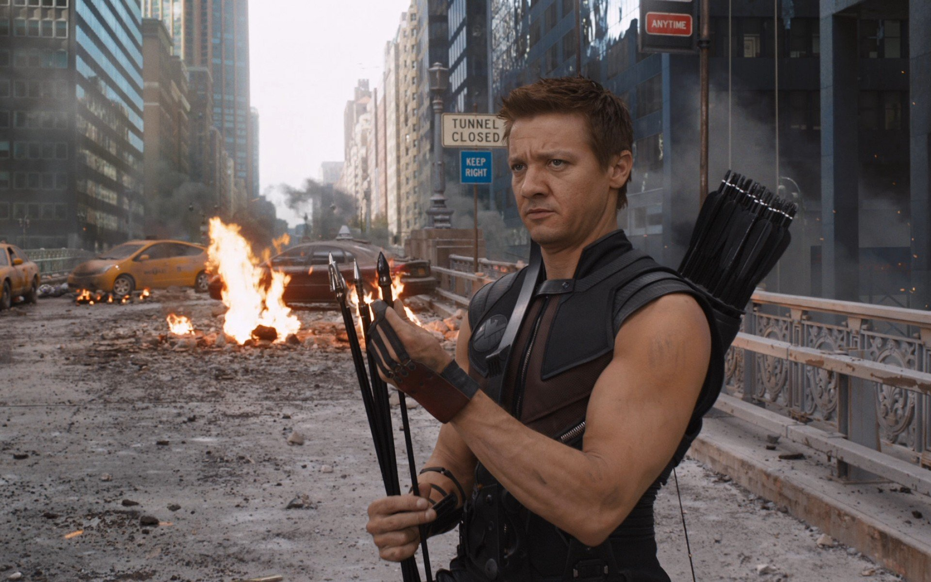 Jeremy Renner as Hawkeye (Picture: Marvel)