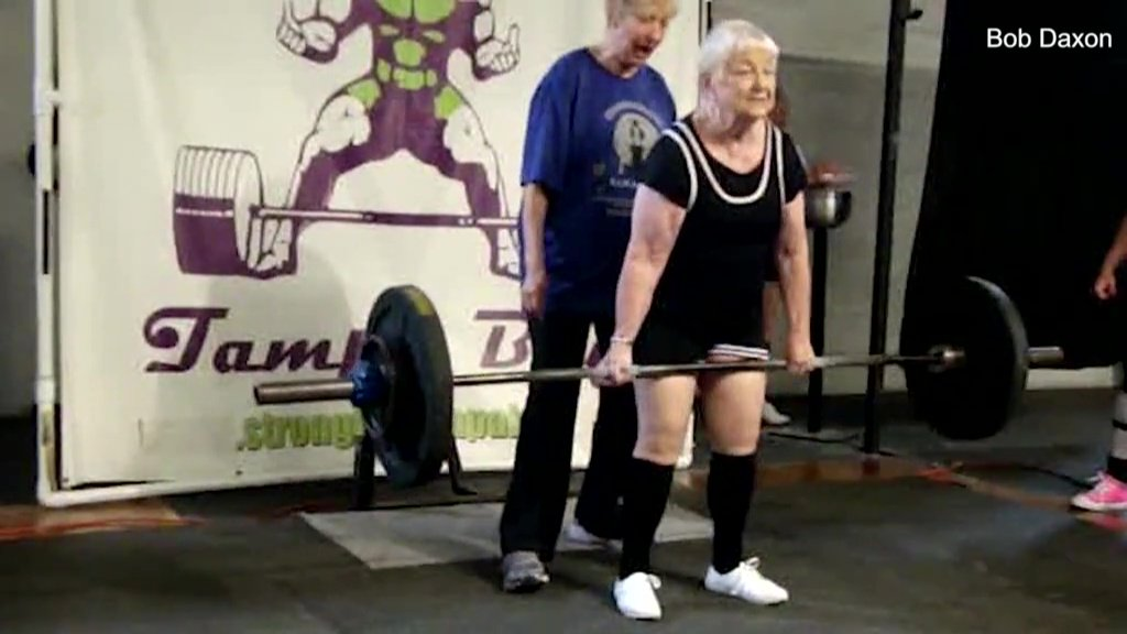 Grandma the weight lifter Picture: Bob Daxon METROGRAB