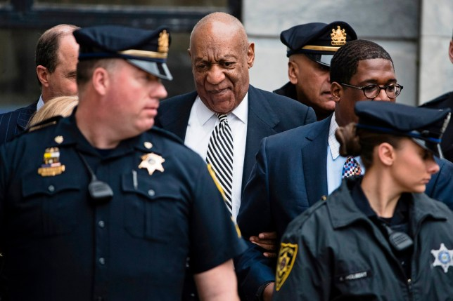 FILE ??? In this April 3, 2017, file photo, Bill Cosby leaves the Montgomery County Courthouse in Norristown, Pa., after a pretrial hearing in his sexual assault case. The trial ended with a deadlocked jury. Cosby's retrial is set to begin Monday, April 9, 2018, on charges he drugged and sexually assaulted Andrea Constand in 2004 at his home near Philadelphia, after selection of jurors in the first week of April. (AP Photo/Matt Rourke, File)