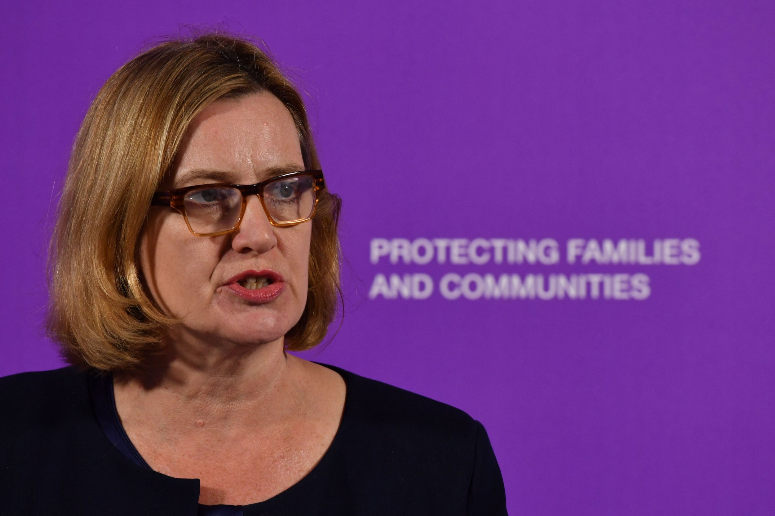Home Secretary Amber Rudd speaking about violent crime at the Coin St Neighbourhood Centre in London. PRESS ASSOCIATION Photo. Picture date: Monday April 9, 2018. Amber Rudd will commit to doing ?whatever it takes? to make Britain?s streets safe as she launches a blitz on violent crime. See PA story POLITICS Violence. Photo credit should read: John Stillwell/PA Wire