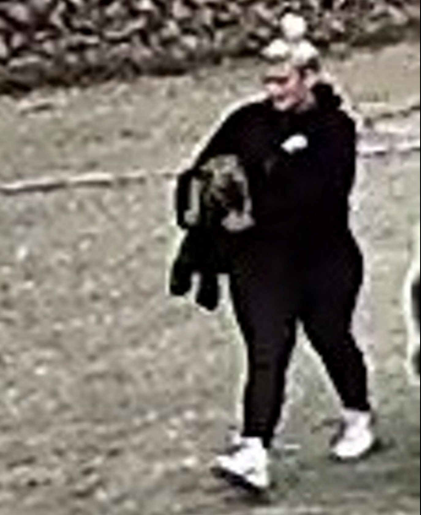 Pictured: Last week Officers investigating the theft of Bella the dog issued CCTV of a woman they wanted to talk to.??A worried family has been reunited with their French Bulldog puppy after the ?2,000 dog was stolen from a top motoring museum - and handed in to a vet's 70 miles away. A week after puppy Bella disappeared and a social media campaign had been launched, owner Abbey Joiner received a mysterious phone call telling her the valuable dog had been dropped off at a vets in Windsor, Berks.??Overjoyed at the news, the family immediately drove from their home in Herne Bay, Kent, making the 190-mile round trip in their Volkswagen Touran to collect their beloved dog. Bella had been spotted on CCTV being carried away from Beaulieu Motor Museum, Hants, just moments after the family tied her up in the museum's designated dog area. SEE OUR COPY FOR DETAILS. Please byline: Hampshire Police/Solent News ? Hampshire Police/Solent News & Photo Agency UK +44 (0) 2380 458800