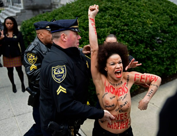 Cosby Show Actress Arrested for Topless Protest at Cosby