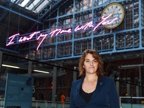 Tracey Emin unveils new artwork at St Pancras International