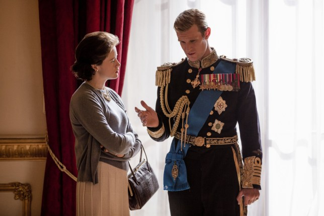 "No Merchandising. Editorial Use Only. No Book Cover Usage Mandatory Credit: Photo by Robert Viglasky/Netflix/Kobal/REX/Shutterstock (9217974am) Claire Foy, Matt Smith ""The Crown"" (Season 2) TV Series - 2017"