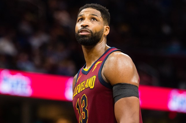CLEVELAND, OH - APRIL 11: Tristan Thompson #13 of the Cleveland Cavaliers looks to the scoreboard during the second half at Quicken Loans Arena on April 11, 2018 in Cleveland, Ohio. The Knicks defeated the Cavaliers 110-98. NOTE TO USER: User expressly acknowledges and agrees that, by downloading and or using this photograph, User is consenting to the terms and conditions of the Getty Images License Agreement. (Photo by Jason Miller/Getty Images)