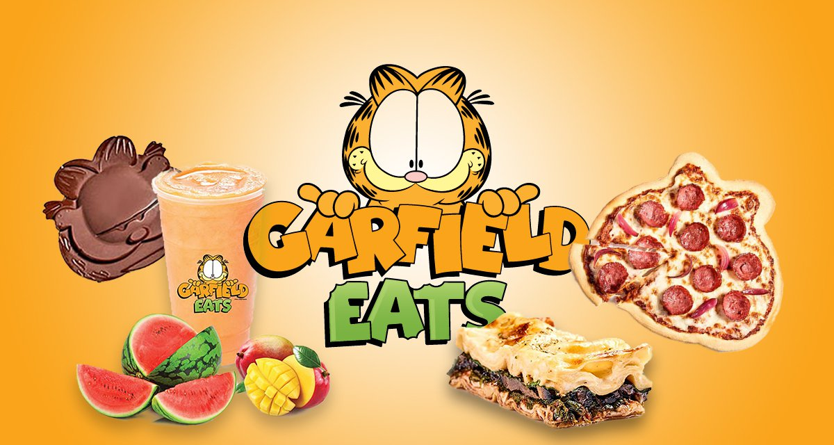 There's a food delivery app that only sells Garfield themed cuisine