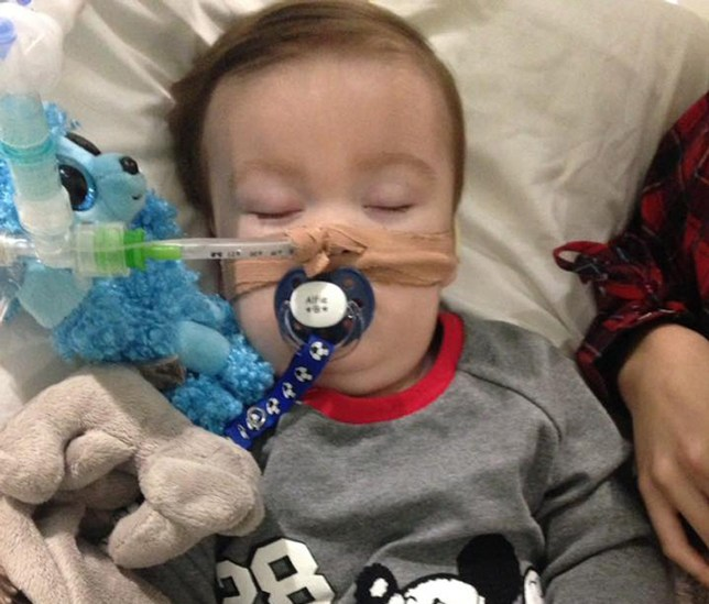 Undated family handout file photo taken with with permission from the Alfies Army Official facebook page of brain-damaged boy Alfie Evans. Police are at a protest outside the hospital where terminally-ill Liverpool boy Alfie Evans is being cared for. PRESS ASSOCIATION Photo. Issue date: Thursday April 12, 2018. It comes a day after a High Court judge expressed his sympathy for the parents of the 23-month-old who is approaching death after being at the centre of a life-support treatment battle. Merseyside Police said they were in attendance at a protest outside Alder Hey Children's Hospital and appealed to protesters to be respectful. See PA story POLICE Alfie. Photo credit should read: Alfies Army Official/PA Wire NOTE TO EDITORS: This handout photo may only be used in for editorial reporting purposes for the contemporaneous illustration of events, things or the people in the image or facts mentioned in the caption. Reuse of the picture may require further permission from the copyright holder.
