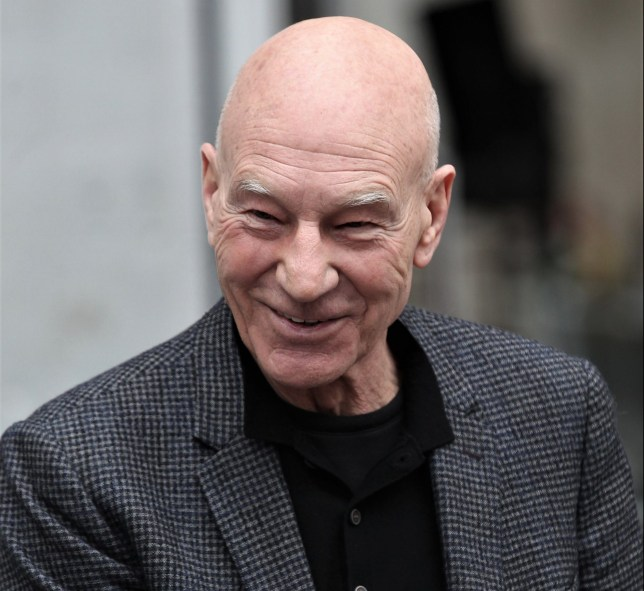 LONDON, ENGLAND - APRIL 13: Sir Patrick Stewart, OBE seen at the BBC on April 13, 2018 in London, England. (Photo by Simon James/GC Images)