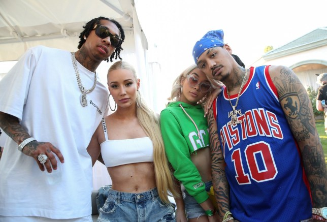 Mandatory Credit: Photo by Chelsea Lauren/WWD/REX/Shutterstock (9629197ad) Tyga, Iggy Azalea, Jasmine Sanders and AE Puma x Fenty pool party, Coachella Valley Music and Arts Festival, Palm Springs, USA - 14 Apr 2018