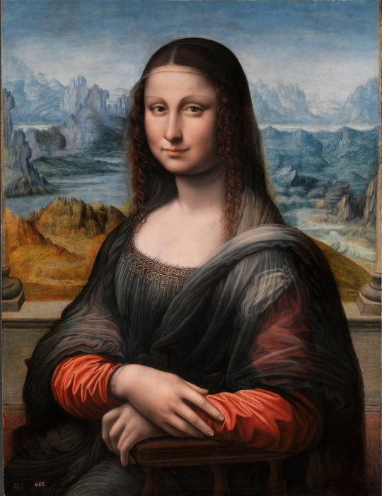 The restored copy of Mona Lisa in the Museo del Prado, Madrid. The work is believed to have been made by an apprentice of Leonardo, at the same time as the original (Picture: Museo Nacional del Pradio)