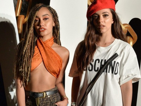 Little Mix's Leigh-Anne Pinnock and Jade Thirlwall let their hair down at Moschino's Coachella party
