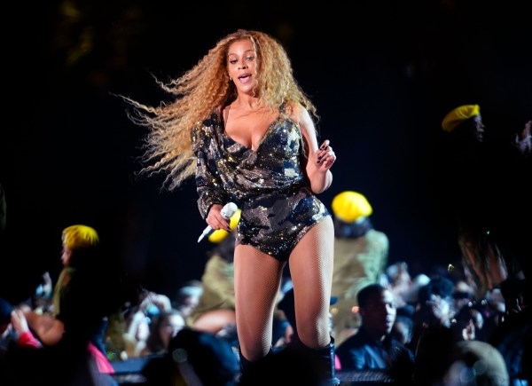 Beyonce whips her hair back and forth during her performance at the 2018 Coachella Music Festival in Indio, CA Pictured: Beyonce Ref: SPL1683169 150418 Picture by: BeyZ/Splash News Splash News and Pictures Los Angeles: 310-821-2666 New York: 212-619-2666 London: 870-934-2666 photodesk@splashnews.com
