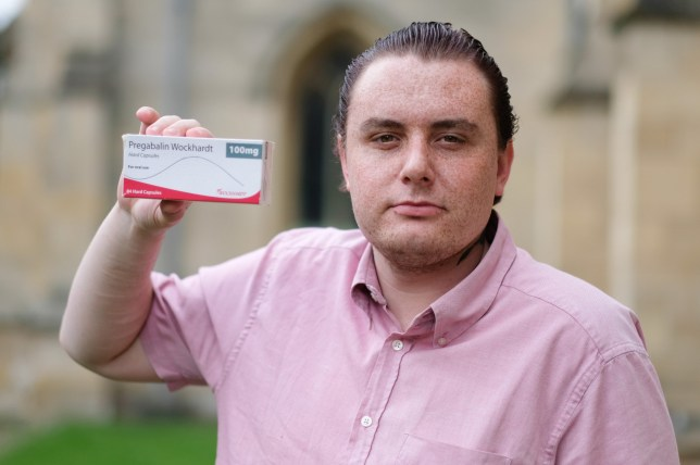 Scott Purdy, from Louth, Linocolnshire, April 16 2018. Scott claims his prescription pain killers have caused him to turn gay. See Masons copy MNGAY: A young man today (mon) claimed that he has been turned gay - by PAIN-KILLERS. Scott Purdy, 23, says he was a hot-blooded heterosexual and enjoyed dating women before he started taking painkiller Pregabalin, also known as Lyrica. Scott started taking the drug to treat pain caused after he broke his foot in a go-karting accident. But he claims he quickly lost his sexual attraction to women and broke up with his girlfriend of six months when prescribed Lyrica earlier this year.