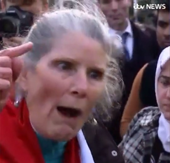 Picture: ITV Woman has dodgy reason for protesting