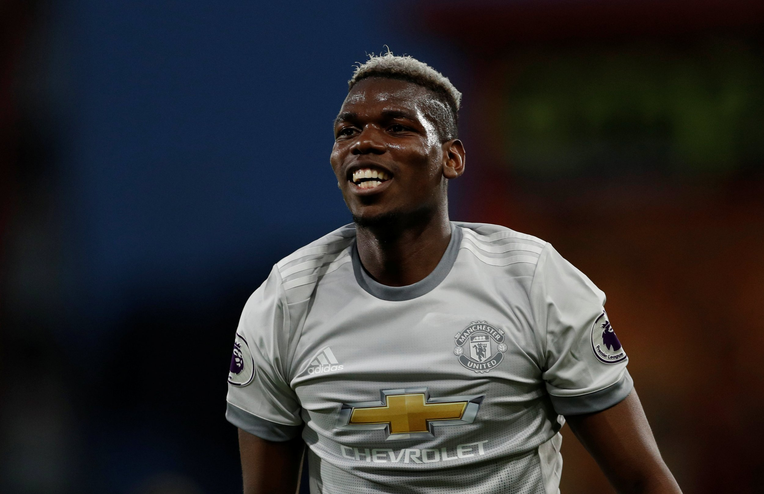 """Soccer Football - Premier League - AFC Bournemouth vs Manchester United - Vitality Stadium, Bournemouth, Britain - April 18, 2018 Manchester United's Paul Pogba reacts Action Images via Reuters/John Sibley EDITORIAL USE ONLY. No use with unauthorized audio, video, data, fixture lists, club/league logos or """"live"""" services. Online in-match use limited to 75 images, no video emulation. No use in betting, games or single club/league/player publications. Please contact your account representative for further details."""