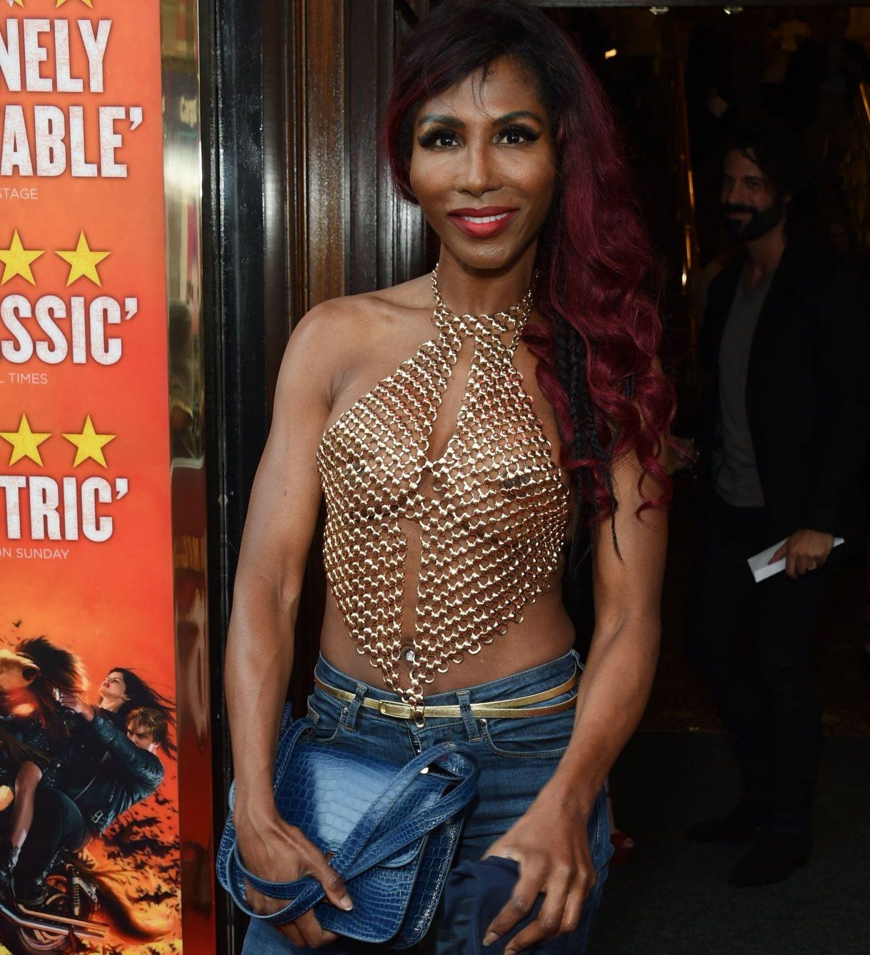 """LONDON, ENGLAND - APRIL 19: Sinitta arrives for the Gala Night performance of """"Bat Out Of Hell The Musical"""" at the Dominion Theatre on April 19, 2018 in London, England. (Photo by David M. Benett/Dave Benett/Getty Images for Bat Out Of Hell The Musical)"""