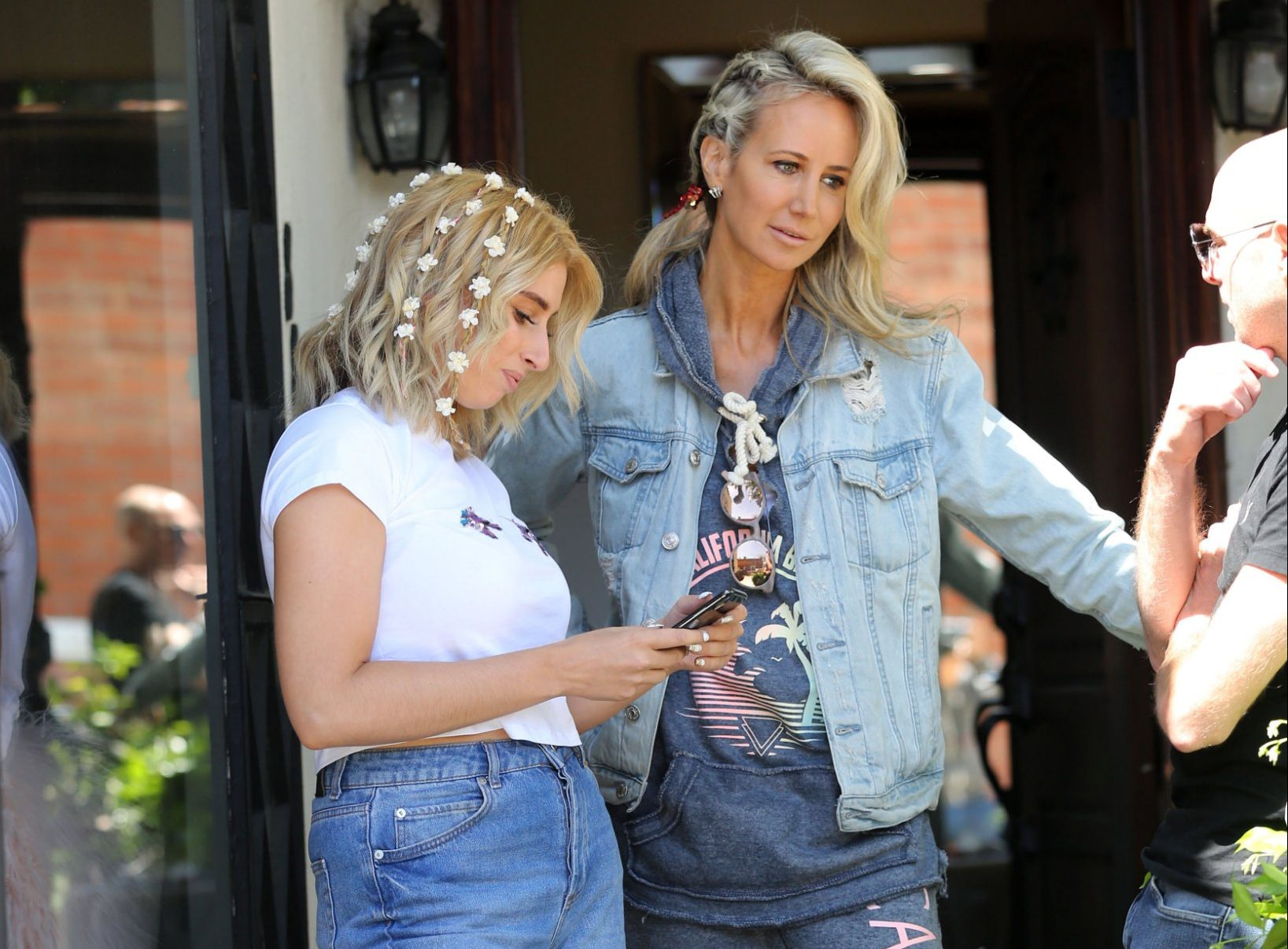 Stacey Solomon goes all flower power as she attends Coachella with Lady Victoria Hervey