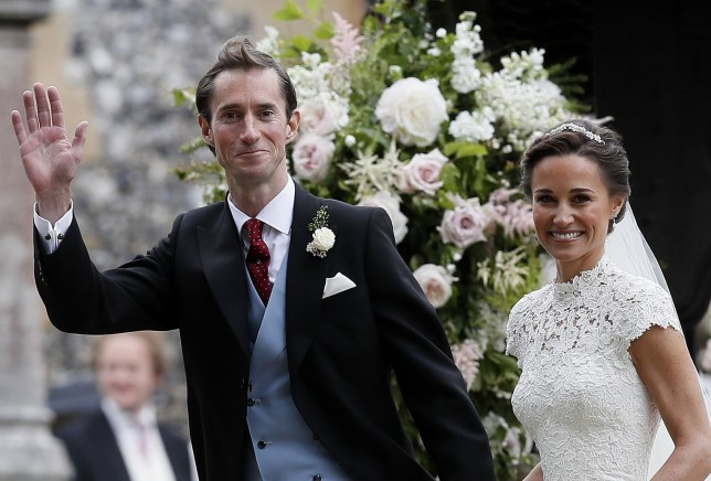 May 20, 2017 - Englefield, GREAT BRITAIN - Pippa Middleton and James Matthews smile after their wedding at St Mark's Church in Englefield, England Saturday, May 20, 2017. Middleton, the sister of Kate, Duchess of Cambridge married hedge fund manager James Matthews in a ceremony Saturday where her niece and nephew Prince George and Princess Charlotte was in the wedding party, along with sister Kate and princes Harry and William. (Credit Image: ? Prensa Internacional via ZUMA Wire)