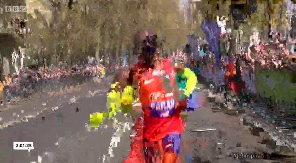 Marathon coverage BBC
