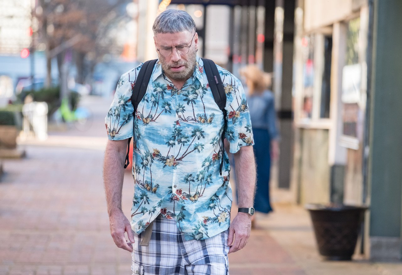 John Travolta is far from Danny Zuko as he transforms to play obsessed stalker in Fred Durst film