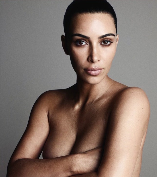 Kim Kardashian Stripped Off For Her Latest Magazine Cover Picture Twitter