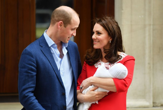 The Duke and Duchess of Cambridge and their newborn son outside the Lindo Wing at St Mary's Hospital in Paddington, London. PRESS ASSOCIATION Photo. Picture date: Monday April 23, 2018. See PA story ROYAL Baby. Photo credit should read: Dominic Lipinski/PA Wire