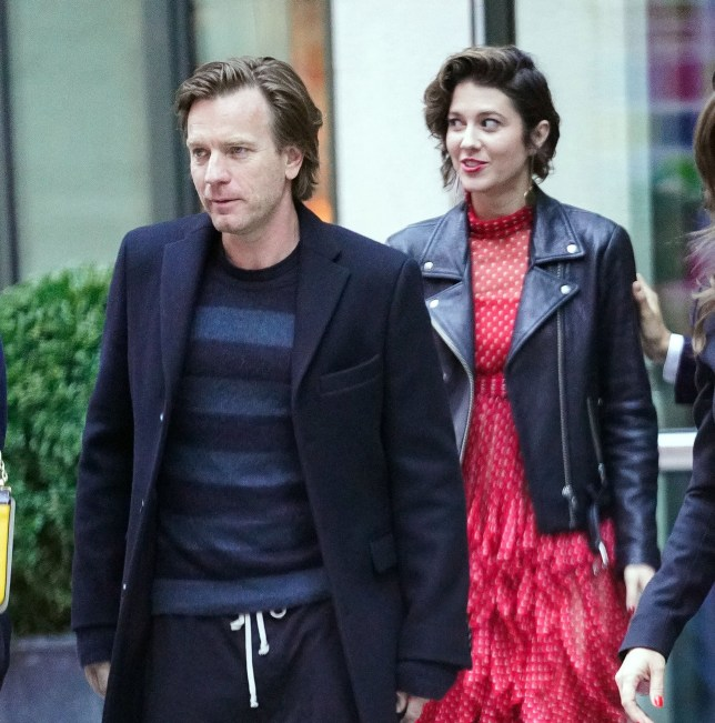 Ewan McGregor and Mary Elzabeth Winstead head out of their hotel in New York Pictured: Ewan McGregor and Mary Elzabeth Winstead Ref: SPL1686494 230418 Picture by: Jackson Lee/ Splash News Splash News and Pictures Los Angeles: 310-821-2666 New York: 212-619-2666 London: 870-934-2666 photodesk@splashnews.com