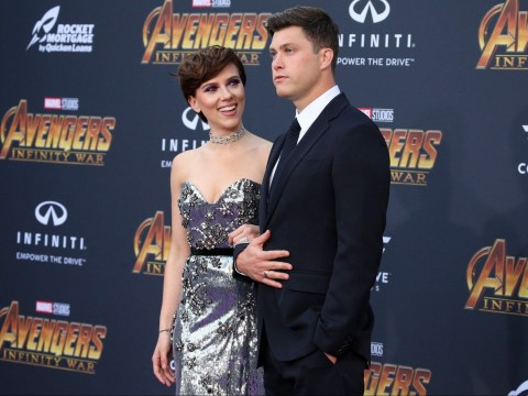 Scarlett Johansson makes red carpet debut with boyfriend Colin Jost at Avengers: Infinity War premiere