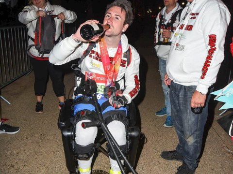 This was the last runner to finish the London Marathon this year