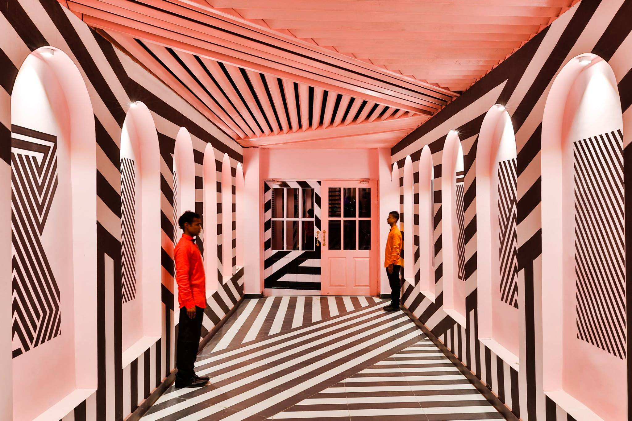 Amazing Wes Anderson restaurant in India (Picture: SAURABH SURYAN) OF LOKESH DANG FOR RENESA ARCHITECTS
