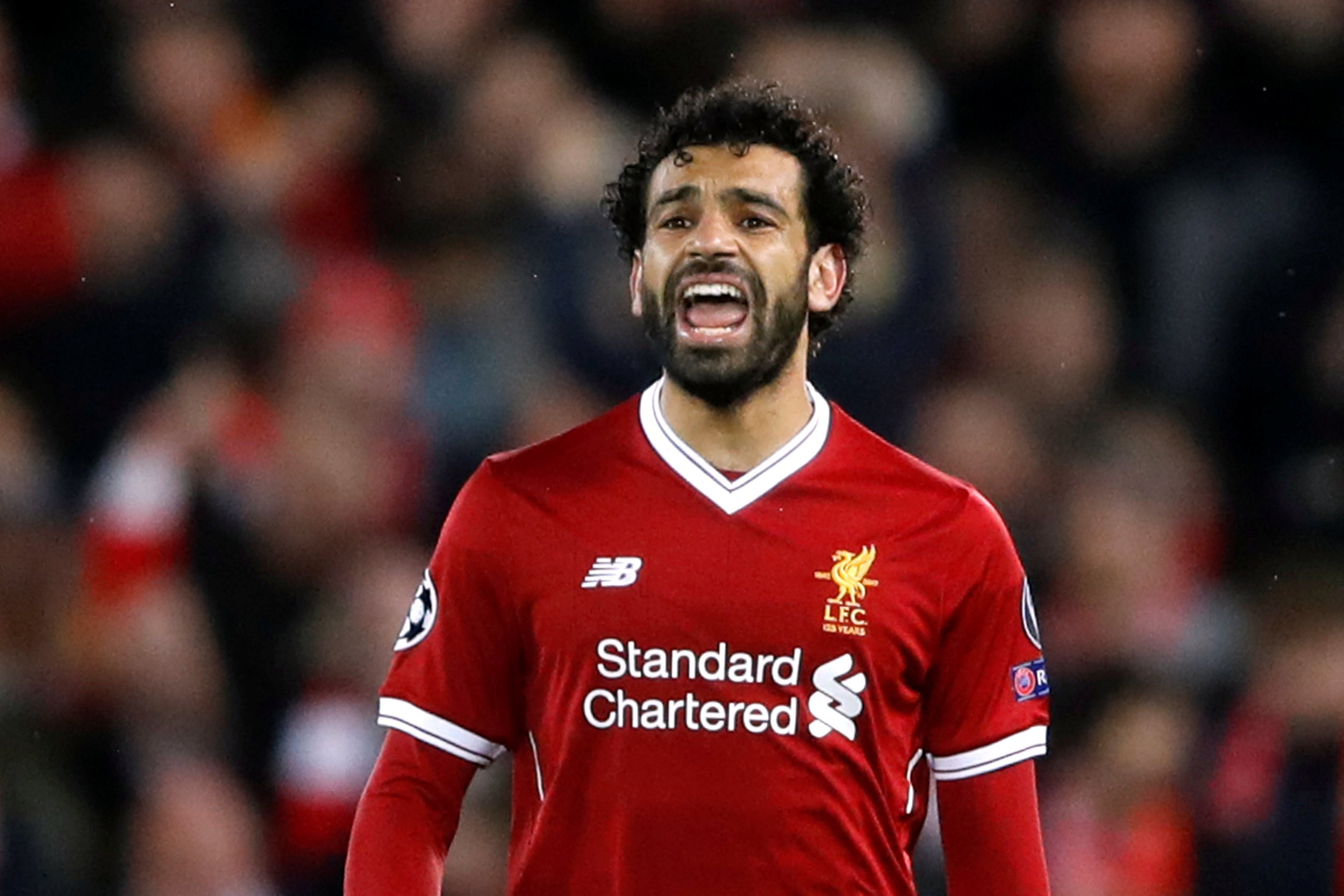 Soccer Football - Champions League Semi Final First Leg - Liverpool vs AS Roma - Anfield, Liverpool, Britain - April 24, 2018 Liverpool's Mohamed Salah Action Images via Reuters/Carl Recine