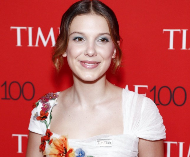 epa06690507 British actress Millie Bobby Brown arrives for the Time 100 Gala at the Frederick P. Rose Hall in New York, New York, USA, 24 April 2018. The event is a celebration of Time Magazine's annual issue recognizing 100 of the world's most influential people. EPA/JUSTIN LANE