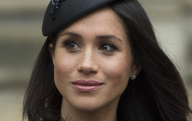 Meghan Markle leaves the annual Service of Commemoration and Thanksgiving at Westminster Abbey, London, to commemorate Anzac Day. PRESS ASSOCIATION Photo. Picture date: Wednesday April 25, 2018. Anzac Day marks the anniversary of the start of the First World War Gallipoli landings, and is a national day of remembrance for Australia and New Zealand. See PA story ROYAL Anzac. Photo credit should read: Eddie Mulholland/Daily Telegraph/PA Wire