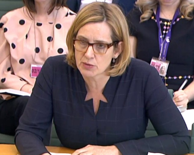 Amber Rudd giving evidence to the Home Affairs Select Committee. PRESS ASSOCIATION Photo. Picture date: Wednesday April 25, 2018. See PA story POLITICS Windrush. Photo credit should read: PA Wire